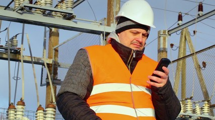 Electrical Engineer send a message with cell phone