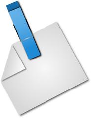 Zettel mit Klammer