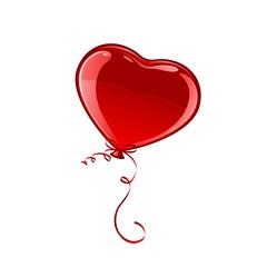 Red Valentine balloon