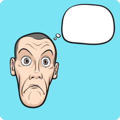 surprised guy face with speech bubble