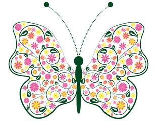 Schmetterling  bringt den Frühling mit