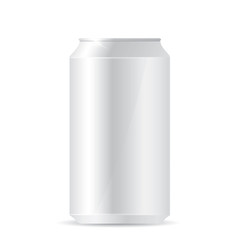 Blank aluminum can on white background