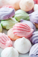 Pastel colored meringue