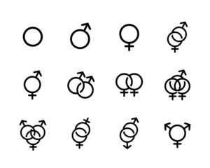 black Sexual orientation icons se