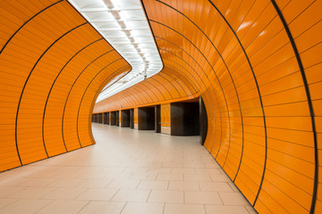 Marienplatz underground station in Munich, Germany © diyanadimitrova