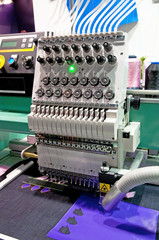 Textile - Professional and industrial embroidery machine