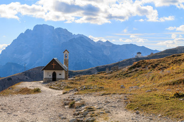 Church in the Dolomite Mountains