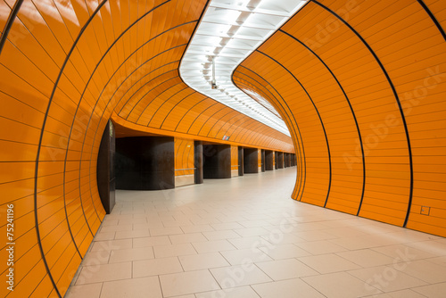 Marienplatz underground station in Munich, Germany - 75241196
