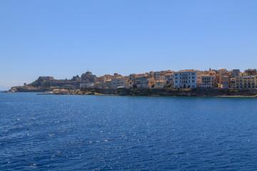 Cosy buildings in Corfu Town