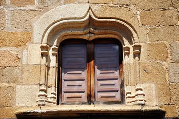 Plasencia, casa del Doctor Trujillo, ventana conopial