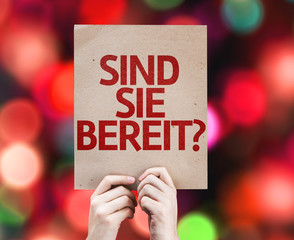 Are You Ready (in German) card with colorful background