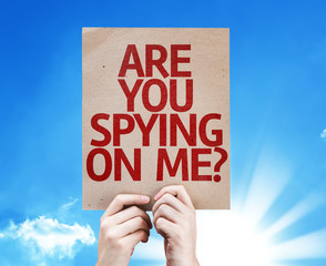 Are You Spying On Me? card with a beautiful day