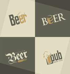 Set of beer logo design templates