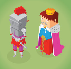 isometric king and knight