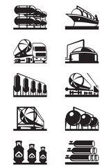 Gas tank terminals - vector illustration