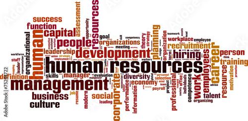 Human Resources word cloud concept. Vector illustration