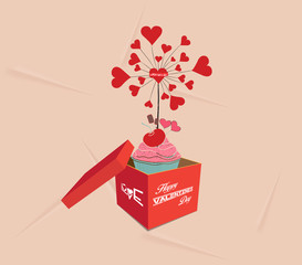 happy valentines open the gift
