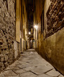 narrow alley in Florence