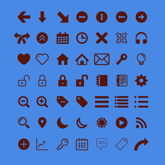 more than- utility icon vector material