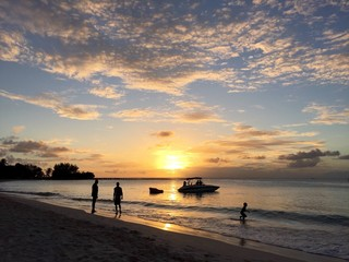 sunset at pebbles beach