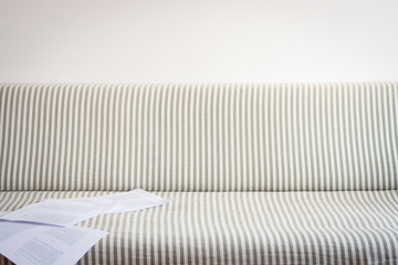 Striped sofa background
