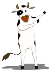Flat Design Cow Welcoming