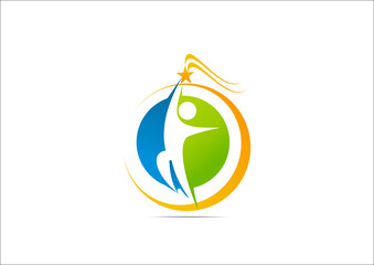 Sucses Icon Business Logo Symbol Spirit brand Circle abstract.z