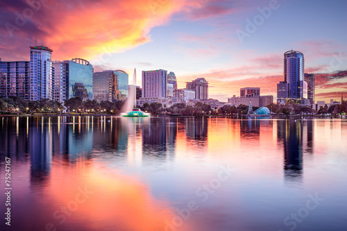 canvas print picture Orlando, Florida Skyline