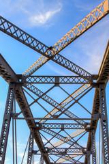 Overhead View of Railroad Bridge