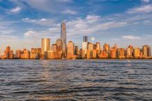 壁紙(ウォールミューラル) - Beautiful view of Manhattan at sunset from Jersey City