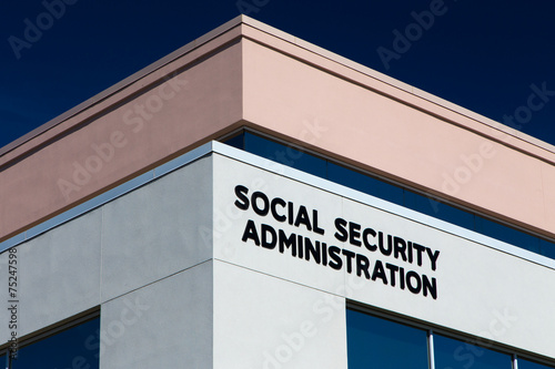 Leinwandbild Motiv United States Social Security Office