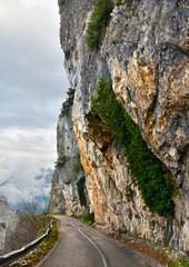 street on the cliff in ioannina Greece