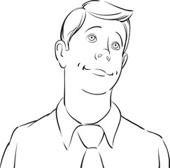whiteboard drawing - dreaming businessman