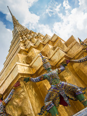 Grand Palace and Temple of Emerald Buddha complex in Bangkok