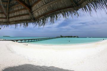 Maldive, sotto l'ombrellone