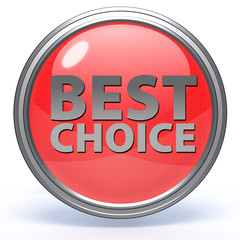 Best choice circular icon on white background
