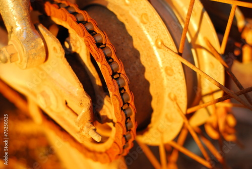canvas print picture part of motorcycle