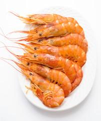 ordered prawns on a platter