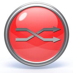 Music circular icon on white background