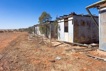 Abandoned shearing shed outback Australia.