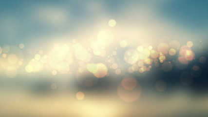 glittering stars on bokeh video background