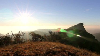 morning Light peak mountain monjong ChiangMai Thailand