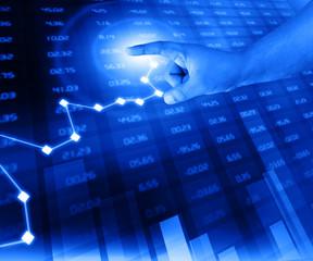 businessman analyze stock exchange chart