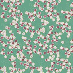 little cute flowers seamless pattern