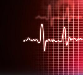 Electrocardiogram background .