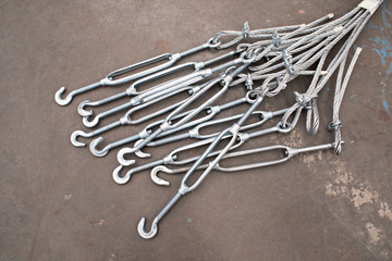 Turnbuckles and wire