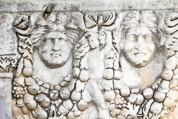 ancient greek reliefs in aphrodisias ,Geyre