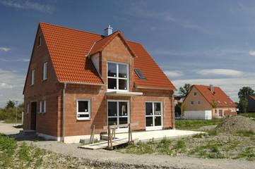 Baustelle Rohbau Einfamilienhaus