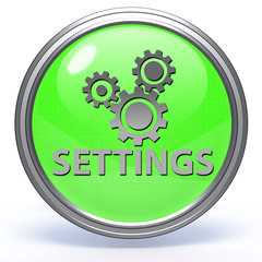 Setting circular icon on white background