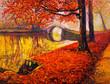 Leinwandbild Motiv Autumn landscape